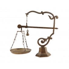 Весы декоративные из латуни с одной чашей