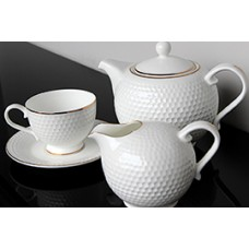 Чайный сервиз Гольф, костяной фарфор, 15 предметов