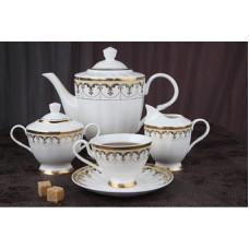 Чайный сервиз Империал. костяной фарфор, 15 предметов
