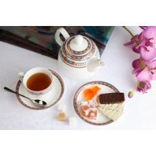 Чайный сервиз Гермес, костяной фарфор, 13 предметов
