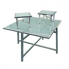Комплект буфетных столов со стеклом