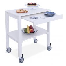 Сервировочный столик на колесах MC6832P , деревянный