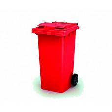 Контейнер для мусора 240 л с крышкой (Красный)