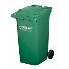 Контейнер для мусора 240 л с крышкой (Зеленый)