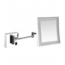 Зеркало антивандальное 800х600 с рамкой из нержавеющей стали матовой