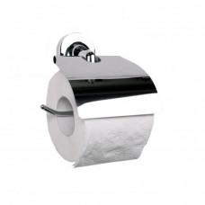 Держатель для туалетной бумаги горизонтальный с крышкой Hotel