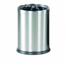 Урна с системой скрытия мешка HIDE-A-BAG с кольцом, 13 литров, металлик