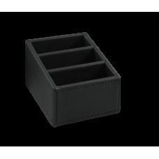 Поднос для пакетиков Crown 110х80x60, кожзам, черный, коричневый