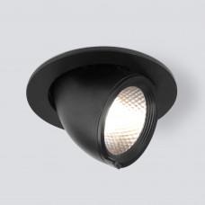 Встраиваемый точечный светодиодный светильник 9918 LED 9W 4200K черный