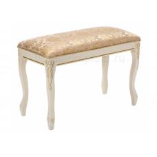 Банкетка деревянная Валентино патина, цвет золото / бежевый