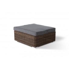 Лунго плетенная оттоманка с подушкой коричневый YH-S4019W (1) brown