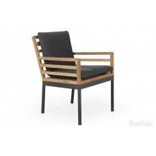 Zalongo обеденное кресло, алюминий/тик, 4251-72-73