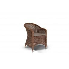 Равенна кресло темно-коричневого цвета с темно-серыми подушками YH-C1103W brown