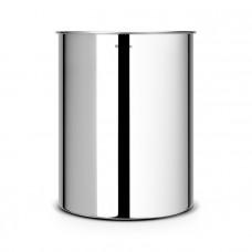 Корзина для бумаг Brabantia 15 л, стальная полированная