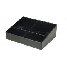 Малый поднос для пакетиков ZEN LINE152х115, 4 отделения, черный