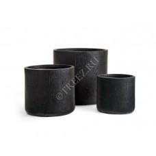 Кашпо TREEZ Ergo Cork Цилиндр Антрацит в-25 см, д-26 см