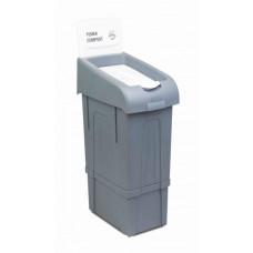 Урна для раздельного сбора мусора PROCYCLE 17, пищевые отходы