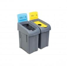 Бак для мусора, 50 л * 2, для чистых и использованных бахил