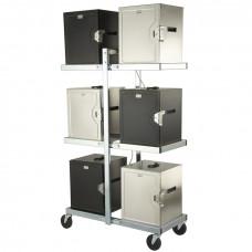 Стеллаж для зарядки и перевозки термобоксов Food Warmer Transport Caddies
