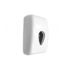 Диспенсер для туалетной бумаги пластиковый белый 290x140x160
